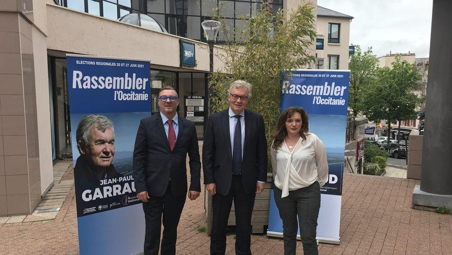 Bruno Leleu, Jean-Paul Garraud et Muriel Frejaville.