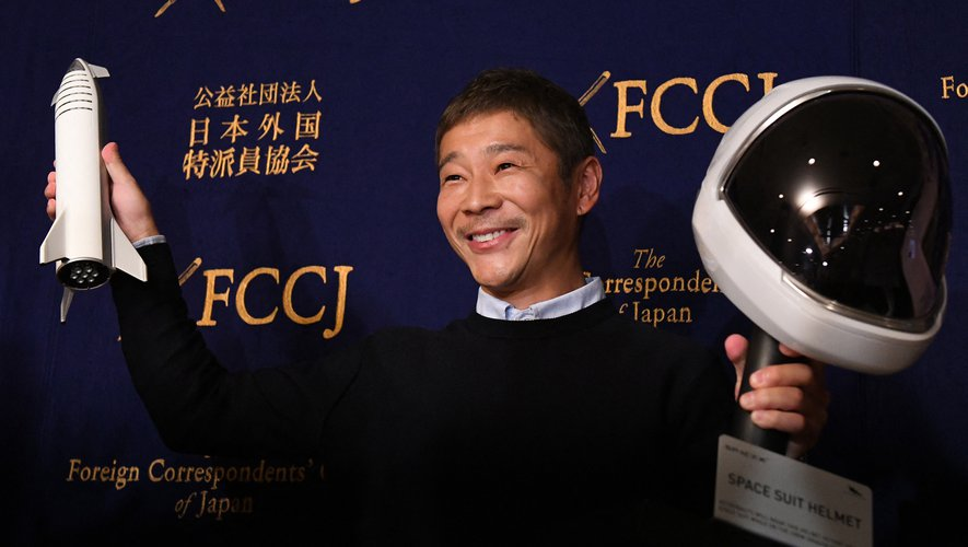 Première annonce faite jeudi, celle d'envoyer vers l'ISS le milliardaire japonais Yusaku Maezawa et son assistant Yozo Hirano, chargé de documenter l'aventure. Le voyage se fera le 8 décembre à bord d'une fusée Soyouz.