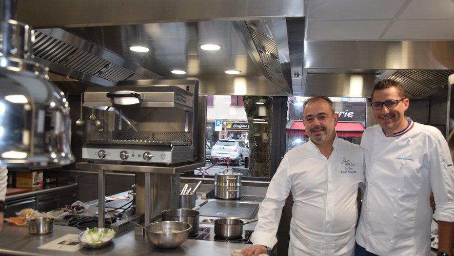 David Burgarella a reçu dans sa Maison gourmande, le chef étoilé Julien Roucheteau.
