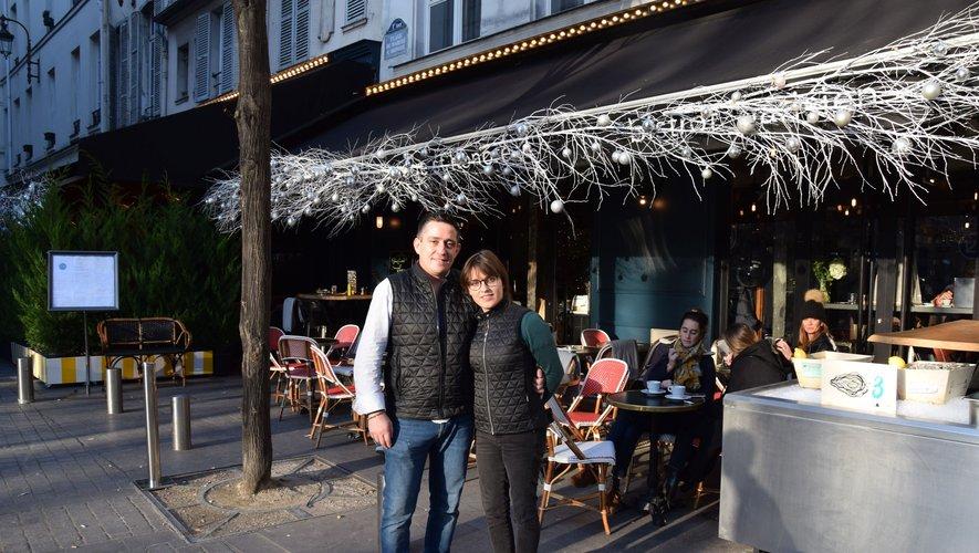 Installés depuis octobre 2019, Mathieu Decruéjouls et Céline Cros disposent de 240 places en terrasse au Passage Saint-Honoré (1er arrondissement).RDS
