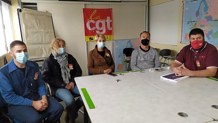 Les représentants CGT du personnel SAM.