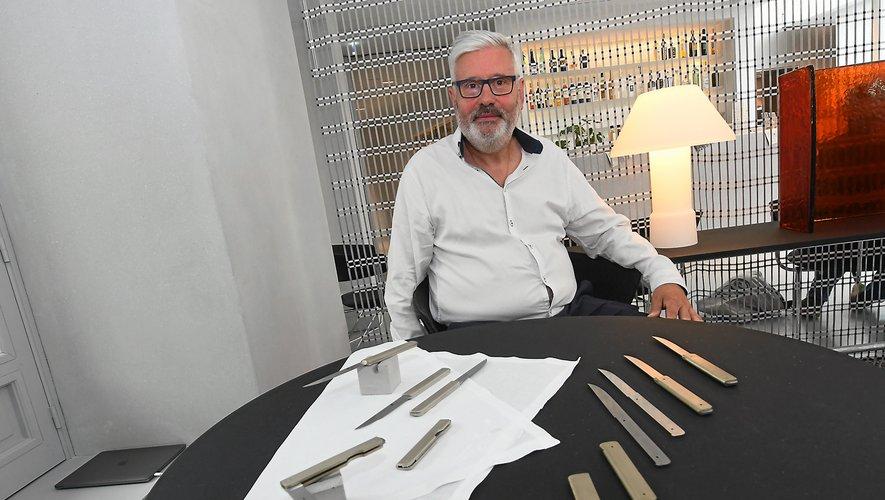 La Forge de Laguiole a produit les couteaux qui trônent sur les tables de la Halle aux grains.