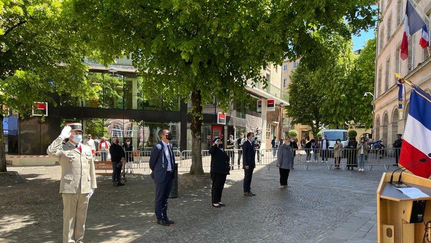 Les commémorations se sont déroulées ce jeudi 27 mai, place Charles-de-Gaulle à Rodez.