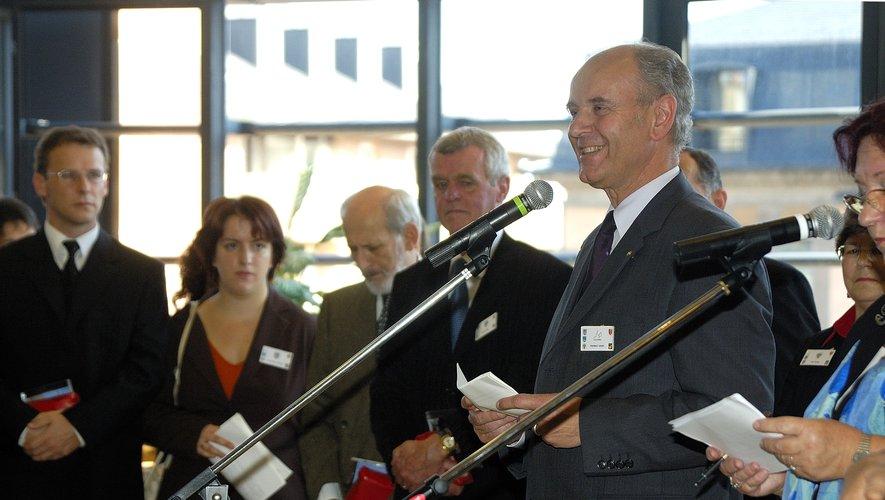 Herbet Lauer était venu à Rodez pour le 35e anniversaire du jumelage, en 2005.