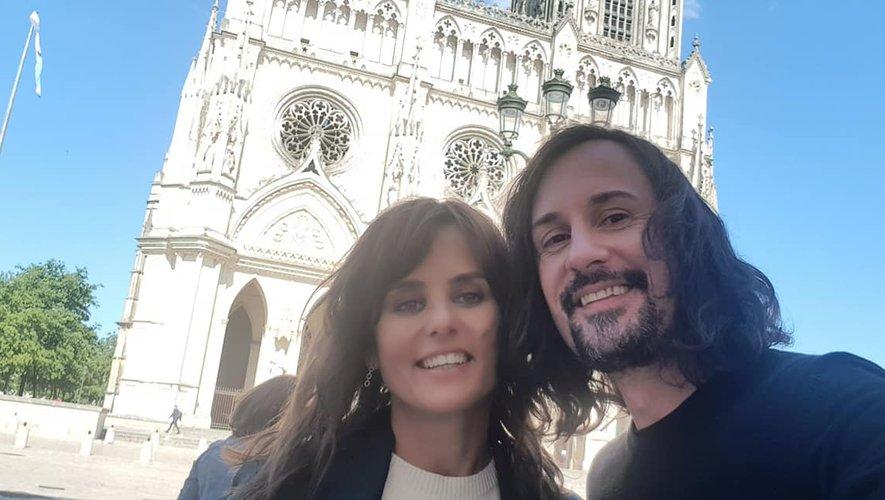 Faustine Bollaert et Olivier Savignac ont tourné l'émission au Vatican.