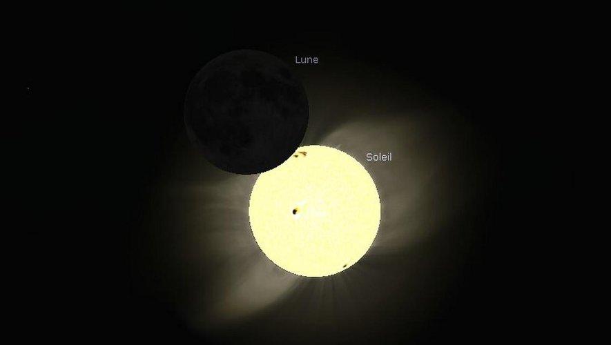 Le soleil a un peu rendez-vous avec la lune ce jeudi.