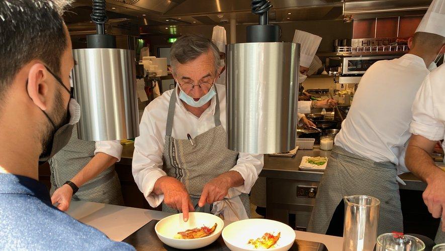 Les premiers clients ont été reçus jeudi midi. Michel Bras était en cuisine.
