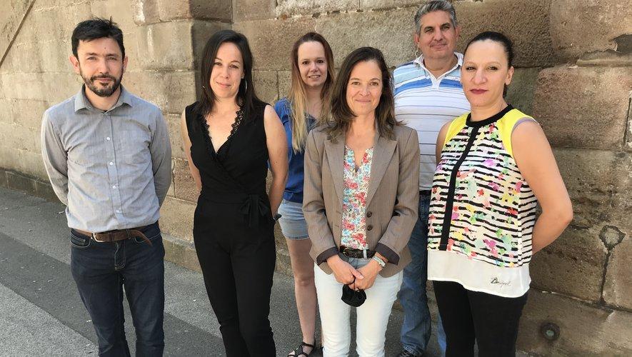 Thierry Touya,  Sandra Britten, Aurélie Cochard, Christel Desquines, Pierre Courmede et Jamaa Haoumalek : membre du bureau et adhérents.
