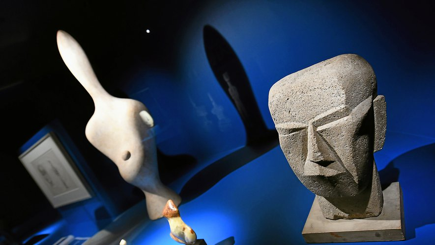 Une centaine d'œuvres sont actuellement présentées au musée Fenaille.