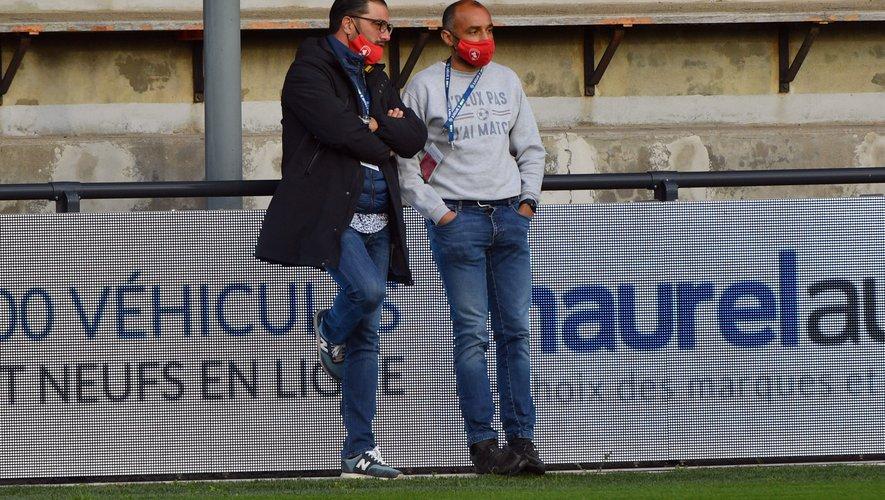 Le président du Raf Pierre-Olivier Murat (à gauche) et son manager général, Gregory Ursule.