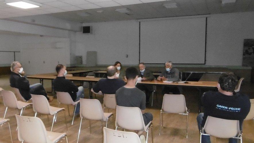 La réunion s'est déroulée en petit comité.