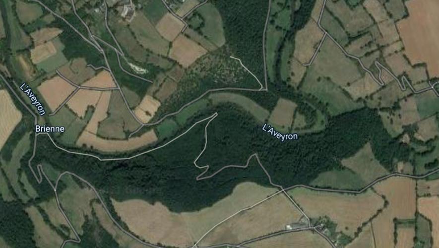 Le bois de Linars, en surplomb de la rivière Aveyron, sur la commune d'Olemps.
