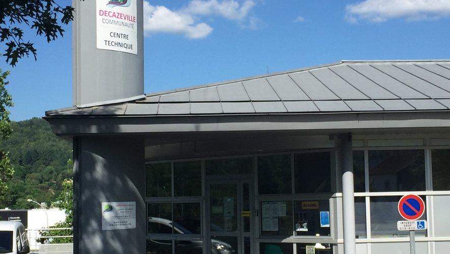 L'accueil du public est assuré  au centre technique  de Decazeville communauté.