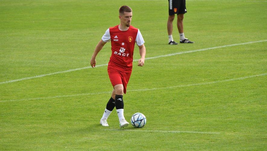 Une fois son transfert officiel, Bradley Danger était à l'entraînement avec Rodez.
