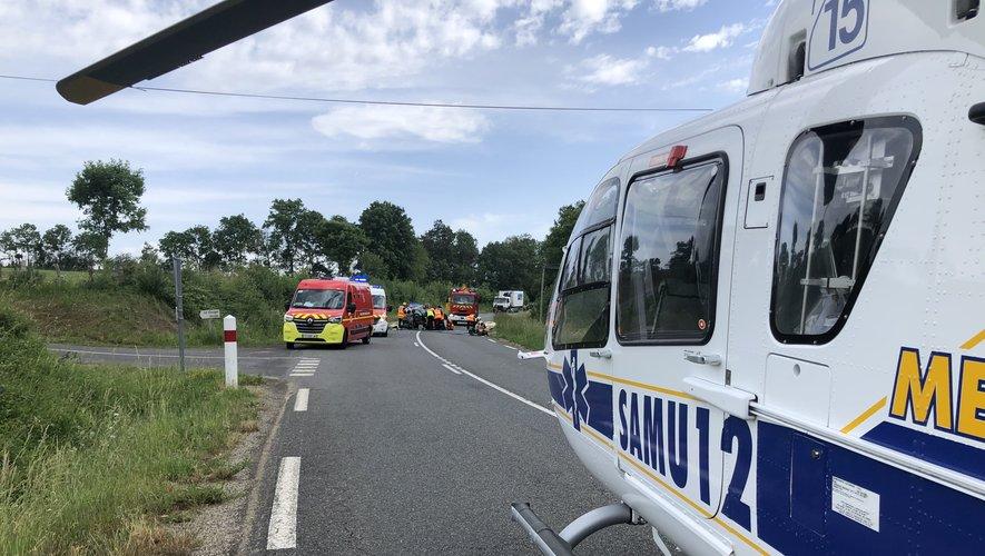 L'hélicoptère du Samu est intervenu sur place.