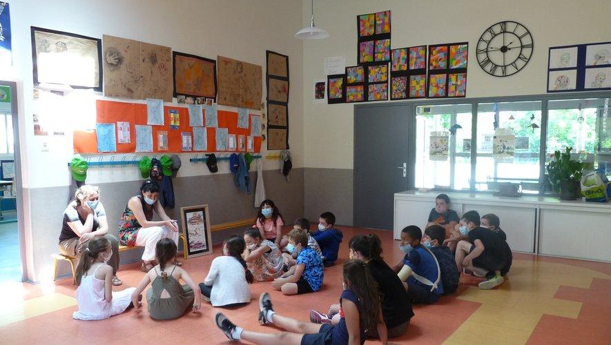 Anaïs Verdier a partagé  avec les enfants son univers poétique.