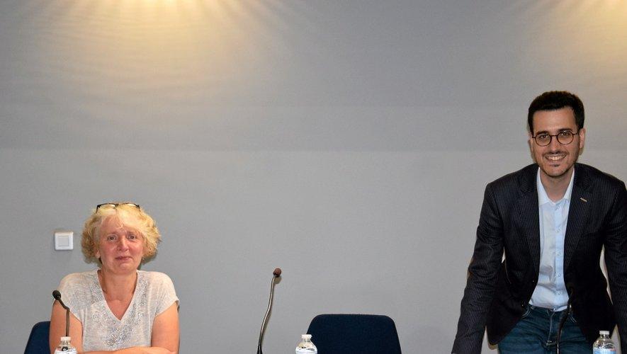 Anne Laurent directrice  et Romain Smaha, président  de la Mission Locale.