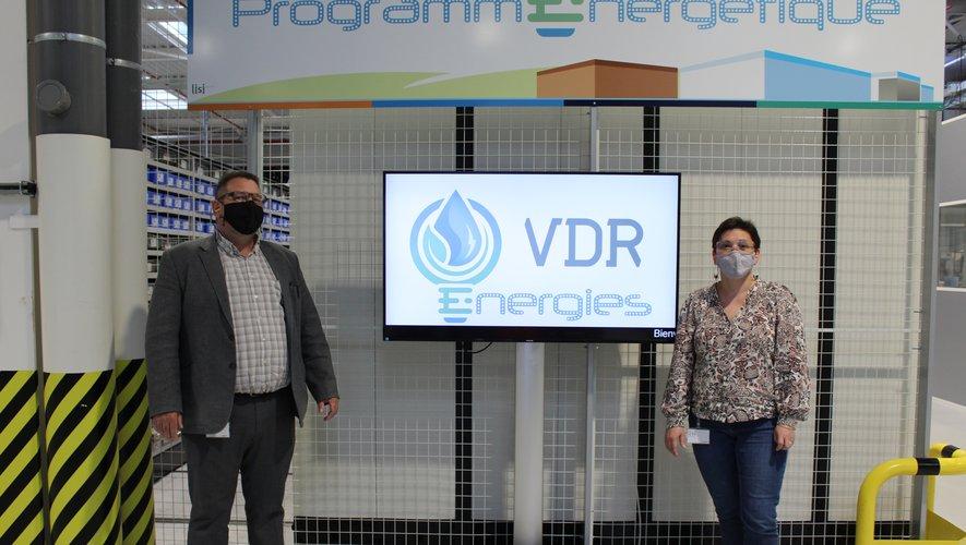 Yohan Fabre, directeur, et Isabelle Assié DRH, présentent le programme énergétique du site.