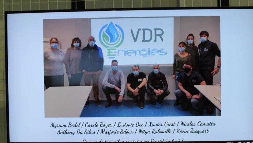 Des salariés volontaires ont travaillé sur la création du logo du programme énergétique, symbolisant les principales énergies de l'usine./DR