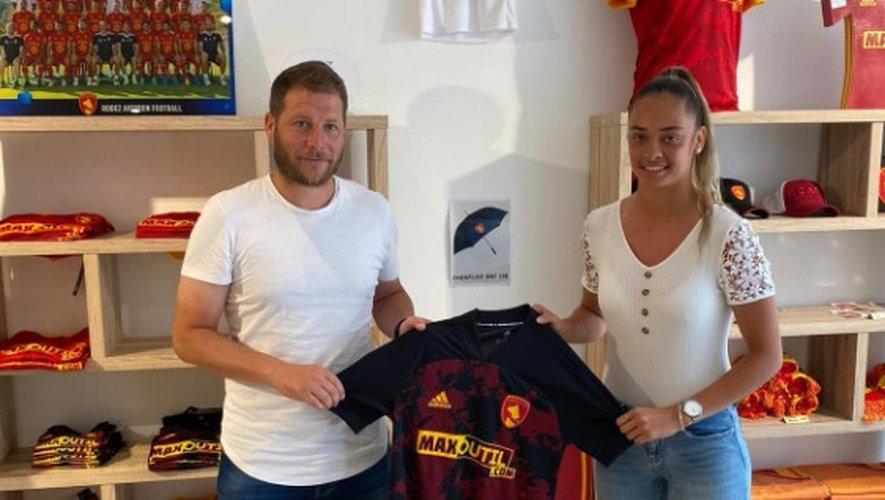 La nouvelle ruthénoise avec son entraîneur Mathieu Rufié.
