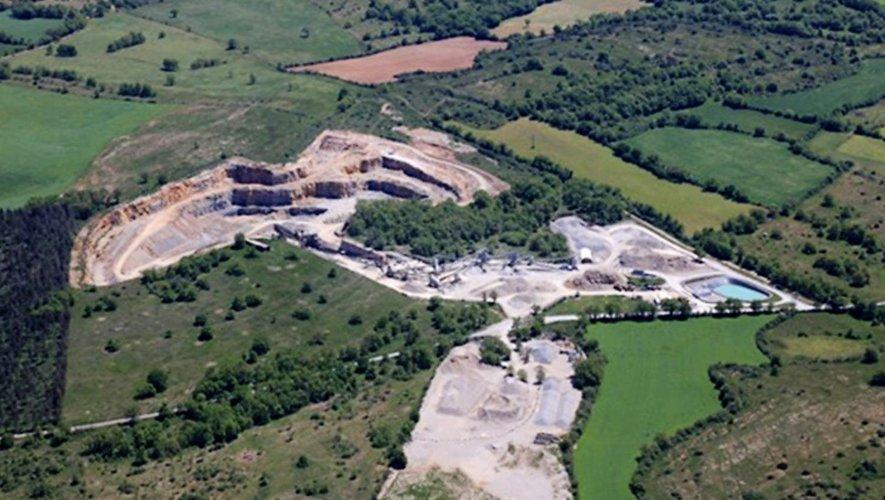 Vue actuelle de la carrière de Puech-Hiver à Salles-la-Source