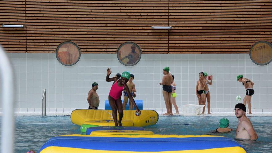 L'équipe d'Aquavallon a construit un parcours gonflable spécialement pour l'occasion.