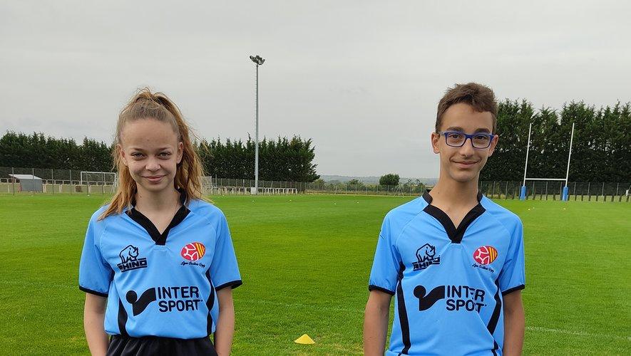 Deux nouveaux jeunes arbitres au sifflet