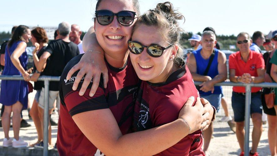Après leur titre national en 2019, Marion Béteille (à gauche) et Alexia Calviac (à droite) se sont offert un nouveau bonheur.
