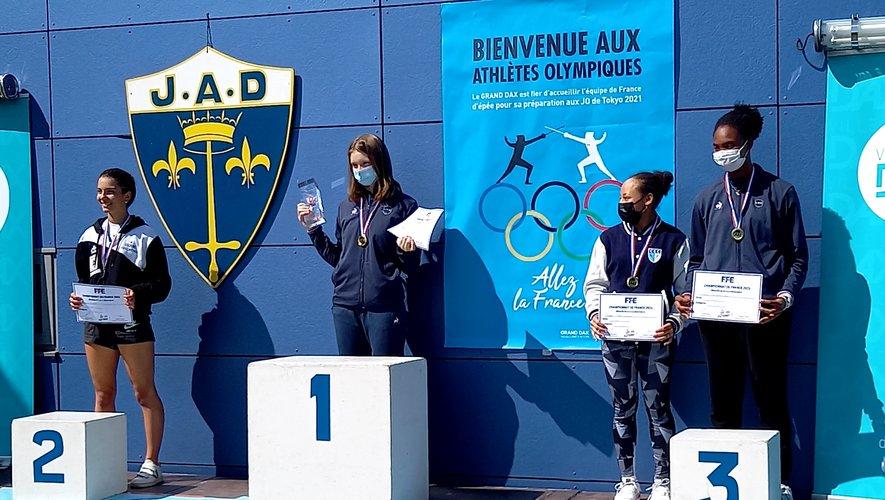Clémentine Pinier (à gauche) est devenue vice-championne de France des moins de vingt ans.