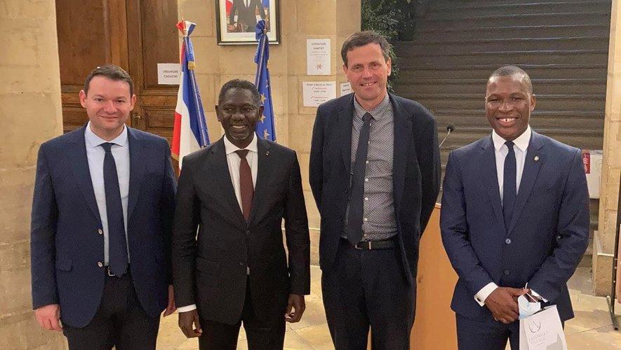 Des Ivoiriens heureux de trouver à  Espalion une terre d'accueil profitable pour leur jeunesse.