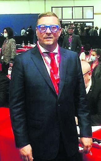 Bruno Leleu (RN), lors de son installation..