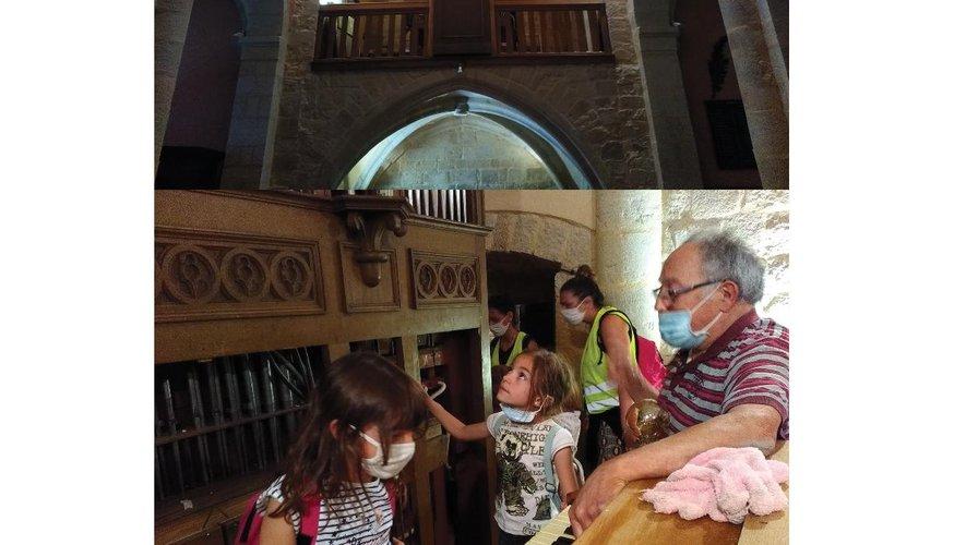 L'orgue dans l'église Saint-Julien de Vimenet.