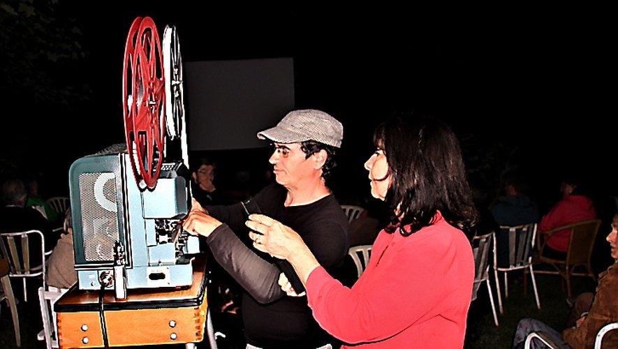 Christiane et Olivier, projectionnistes d'un soir, ont partagé leur passion.