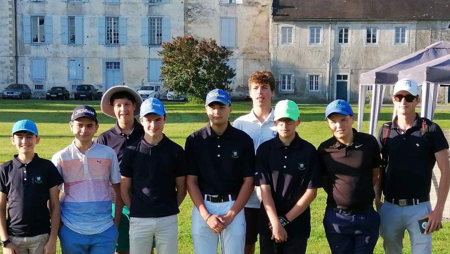 Les jeunes du golf du Totche ont réussi une belle opération aux championnats de France U16./ Photo DR.