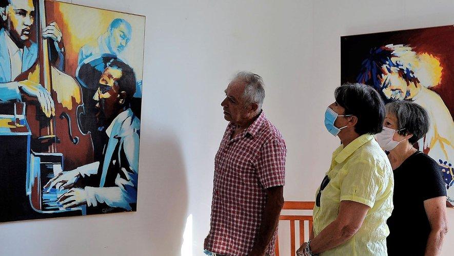 Une diversité d'œuvres très intéressantes s'offre aux yeux des visiteurs.