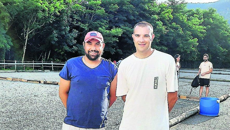 T. Bories et D. Azéma, finalistes à Trépalou.