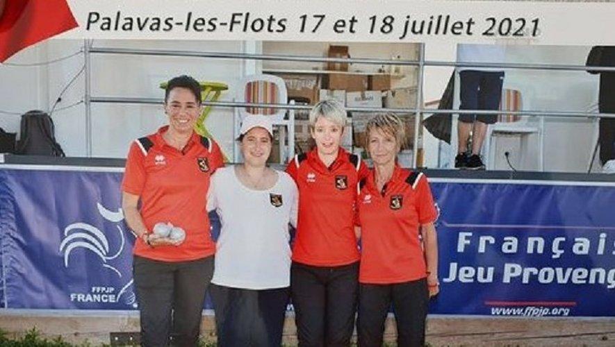 Un très beau parcours qui s'est achevé en huitième de finale contre l'équipe Championne du Lot 2021, Anna Maillard, Nadège Baussian-Protat et Laetitia Bousquet.
