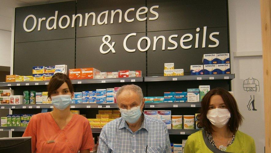 L'équipe de la pharmacie Mistral.