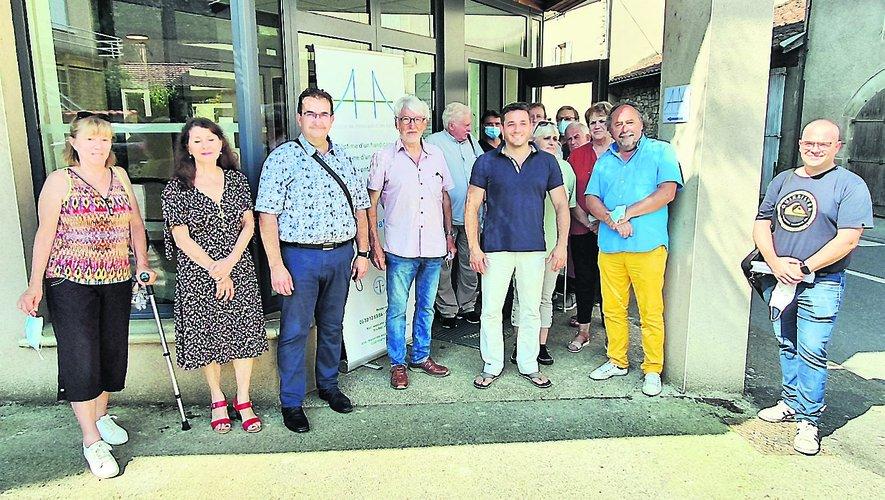 L'inauguration du local a eu lieu jeudi 22 juillet en présence d'élus et de Vincent Tranier pour Aveyron Habitat.