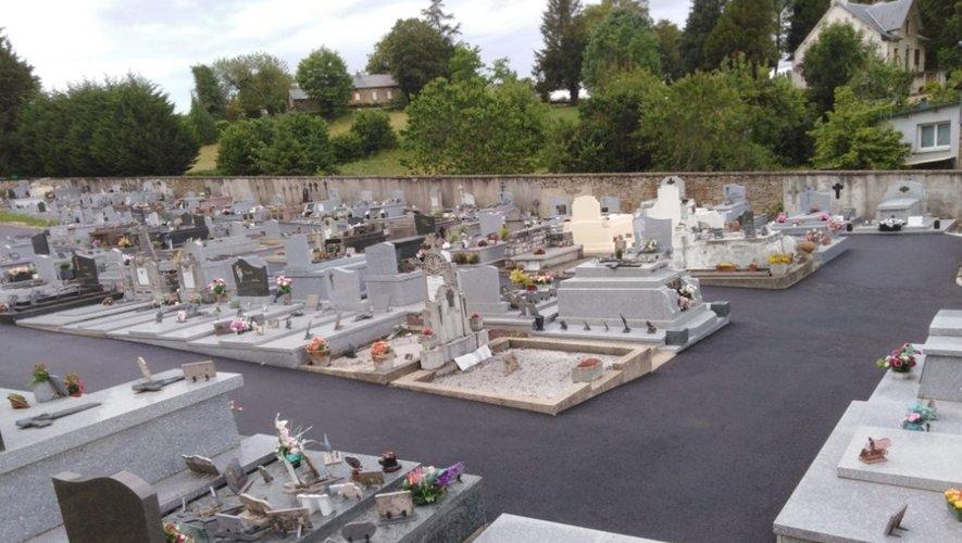 Une première étape de la rénovation des cimetières de la commune