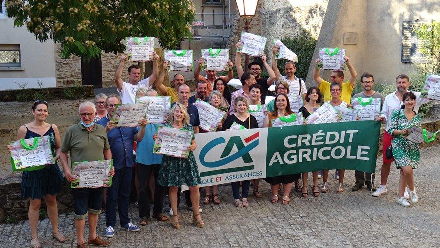 Une réception avec élus, adhérents et représentants ce la caisse locale du Crédit Agricole.
