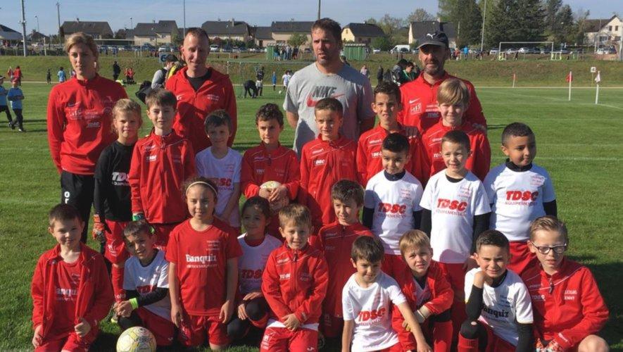 Les jeunes footballeurs de Lioujas et de  Sébazac défendront désormais l'honneur d'un même maillot.