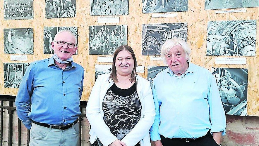 Valérie Moulin aux côtés de René Tomczak et Michel Herranz.