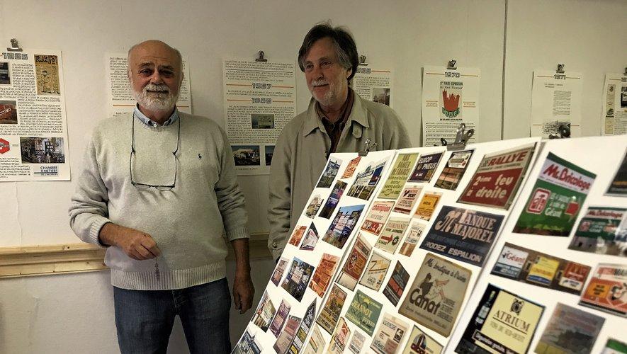Guy Sounillac et Dominique Jacomet, à l'Institut des métiers de l'estampe.