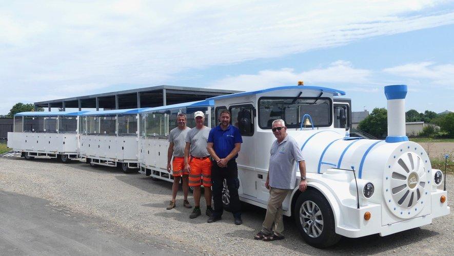 Chauffeurs lors de la formation de prise en main du nouvel équipement.