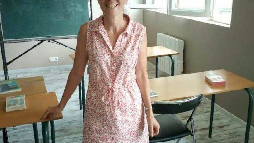 Marie-Noëlle Mourgère prépare la rentrée de la nouvelle école.