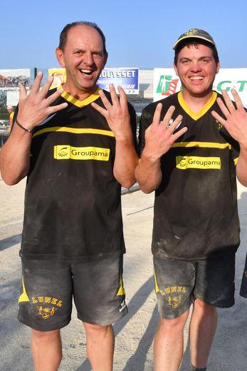 Didier et Clément Layrac se verraient bien remporter le dixième titre national de Lunel, dimanche, au Trauc.