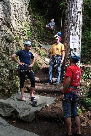 Les 80 grimpeurs ont participé aux 24 h de l'escalade.