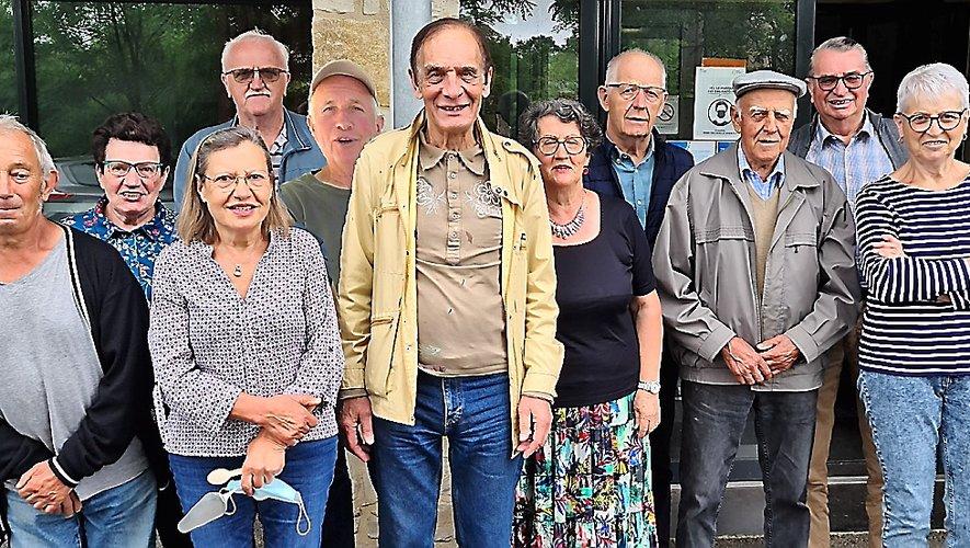 Les membre du nouveau conseil d'administration, avec Jacky Delort son président au centre de la photo.
