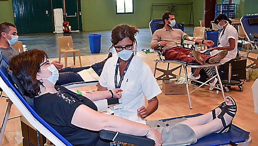 Petite affluence à la collecte de sang